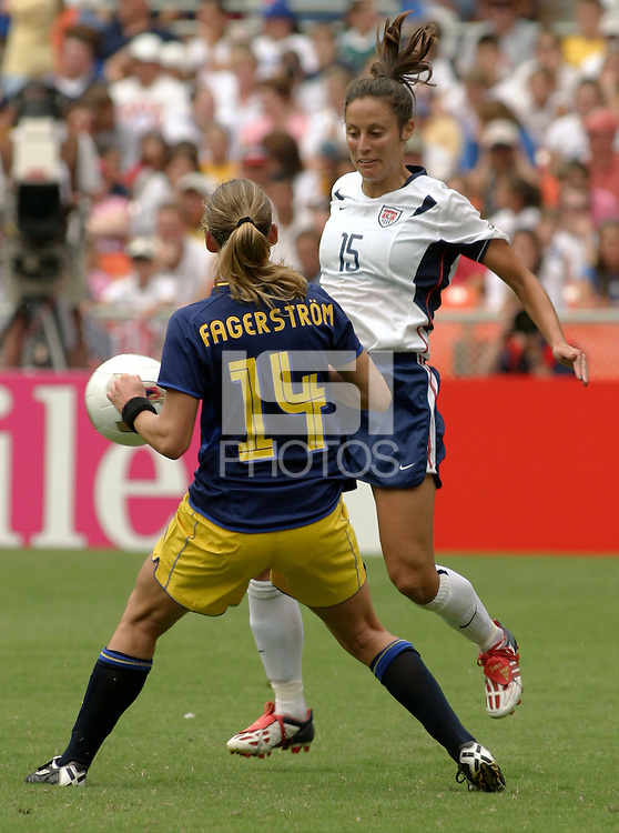 Kate Sobrero, 2003 WWC USA Sweden.