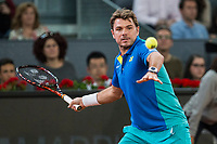 Stan Wawrinka during the match of the Charity day previus at Madrid Open Tenis 2017in  Madrid, Spain. May 04, 2017. (ALTERPHOTOS/Rodrigo Jimenez) /NORTEPHOTO.COM