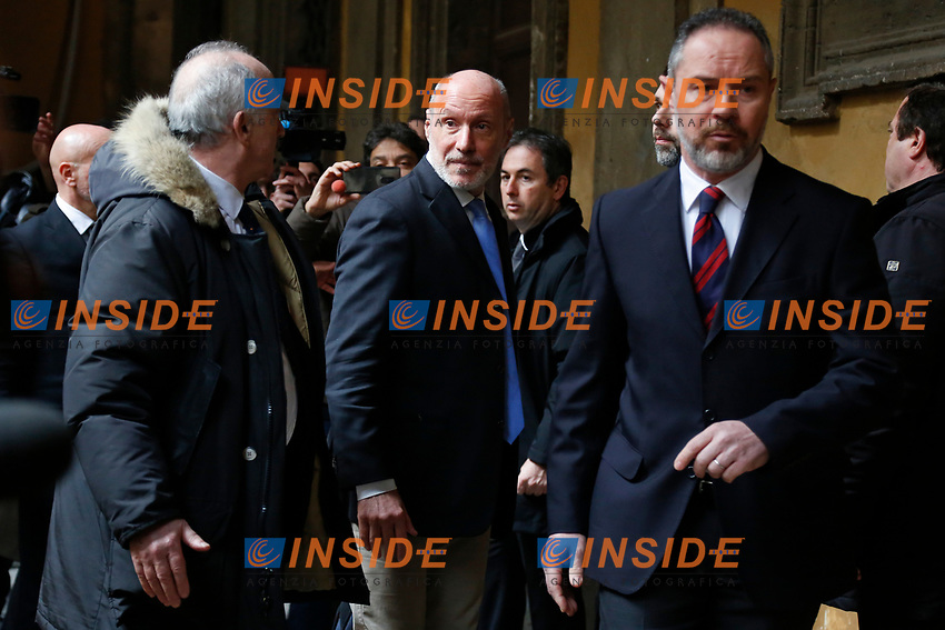 Gregorio De Falco, expelled from Movement 5 Stars<br /> Rome February 19th 2019. Senate immunity commission at Sant'Ivo alla Sapienza palace.  The commission voted to retain immunity from prosecution for the Minister of Internal Affairs Matteo Salvini. Last August 20th a ship, carrying 177 migrants (among them many minors) docked in the harbour of Catania but Minister Salvini took the decision to block migrants of Diciotti ship at sea. For that reason the magistracy accused the minister of kidnapping.<br /> Foto Samantha Zucchi Insidefoto