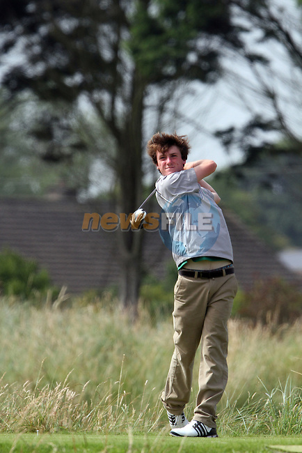 Gareth Lappin (IRL) on the 4th on the Final Day at the 2012 Boys Home Internationals at Co.Louth Golf Club in Baltray, Co.Louth...(Photo credit should read Jenny Matthews/NEWSFILE)...