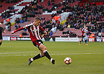 Paul Coutts of Sheffield Utd takes a shot on goal during the Emirates FA Cup Round One match at Bramall Lane Stadium, Sheffield. Picture date: November 6th, 2016. Pic Simon Bellis/Sportimage