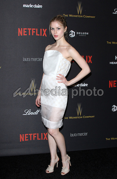 10 January 2016 - Los Angeles, California - Erin Moriarty. 2016 Weinstein Company & Netflix Golden Gloves After Party held at the Beverly Hilton Hotel. Photo Credit: AdMedia