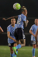 Piscataway, NJ, May 13, 2016. Forward Tasha Kai (32) of Sky Blue FC. Sky Blue FC defeated the Boston Breakers, 1-0, in a National Women's Soccer League (NWSL) match at Yurcak Field.