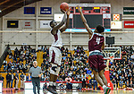 WEST HARTFORD, CT. 15 March 2018-031518BS30 - Raheem Solomon (11) from Sacred Heart shoots a jumper in front of Jordan Riley (4) from Windsor at the Div I semi-finals between Sacred Heart vs Windsor at University of Hartford on Thursday evening. Sacred Heart won in a thriller 59-58 over Windsor and advances to the finals at Mohegan Sun. Bill Shettle Republican-American