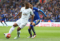 Wayne Routledge of Swansea City during the Barclays Premier League match between Leicester City and Swansea City played at The King Power Stadium, Leicester on April 24th 2016