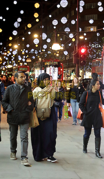 LONDON, ENGLAND - Christmas Lights and Displays in Oxford Street, on November 25th 2015 in London, England<br /> CAP/ROS<br /> &copy;ROS/Capital Pictures