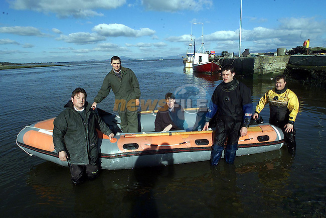 Peader O'Neill, Kieran English, Jim Ryan, Sean Flannagan and David Mulroy, some of the crew of Dundalk Bay Inshore Rescue..Picture Paul Mohan Newsfile