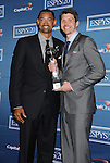 LOS ANGELES, CA - JULY 11: Juwan Howard and Mike Miller pose in the press room during the 2012 ESPY Awards at Nokia Theatre L.A. Live on July 11, 2012 in Los Angeles, California.