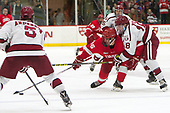Matt Buckles (Cornell - 16), Adam Fox (Harvard - 18) - The Harvard University Crimson defeated the visiting Cornell University Big Red on Saturday, November 5, 2016, at the Bright-Landry Hockey Center in Boston, Massachusetts.