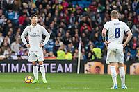 Cristiano Ronaldo and Toni Kroos during the match of Spanish La Liga between Real Madrid and UD Las Palmas at  Santiago Bernabeu Stadium in Madrid, Spain. March 01, 2017. (ALTERPHOTOS / Rodrigo Jimenez) /NORTEPHOTOmex