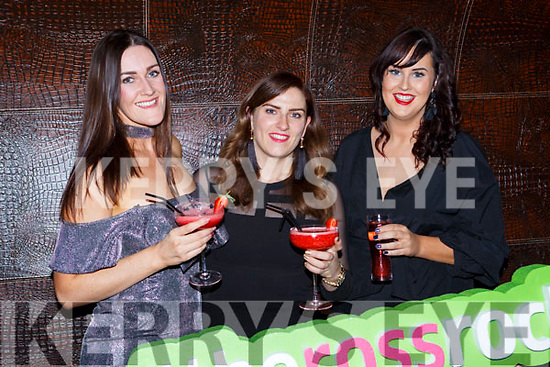 Triona O'Callaghan, Marie Moone and Michelle McMahon Rockchapel celebrating New Years Eve in the Lane bar Killarney