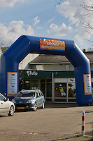 Hilversum, The Netherlands, 05.03.2014. NOVK ,National Indoor Veterans Championships of 2014,front entrance<br /> Photo:Tennisimages/Henk Koster
