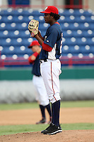 October 5, 2009:  Pitcher Robinson Fabian of the Washington Nationals organization delivers a pitch during an Instructional League game at Space Coast Stadium in Viera, FL.  Photo by:  Mike Janes/Four Seam Images