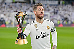 Real Madrid's Sergio Ramos during La Liga match between Real Madrid and Real Sociedad at Santiago Bernabeu Stadium in Madrid, Spain. January 06, 2019. (ALTERPHOTOS/A. Perez Meca)<br />  (ALTERPHOTOS/A. Perez Meca)