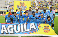 BARRANCABERMEJA- COLOMBIA - 19-08-2015. Formacion   de Jaguares FC contra  Petrolera  durante partido  por la fecha 7 de la Liga Aguila II 2015 jugado en el estadio Daniel Villa Zapata. / Team  of Jaguares FC    against  Petrolera  during a match for the seventh date of the Liga Aguila II 2015 played at Daniel Villa Zapata  stadium in Barrancabermeja city. Photo: VizzorImage / Jose David Martinez / Contribuidor