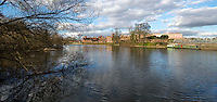 BNPS.co.uk (01202 558833)<br /> Pic: PhilYeomans/BNPS<br /> <br /> Hampton Court Palace today.<br /> <br /> 'Old man river, he just keeps rollin' - A remarkable collection of panoramic photographs of the Thames taken 160 years ago have emerged for auction, and they reveal how little the famous old river has changed in the last century and a half.<br /> <br /> They follow the river from London to Oxford in 40 photographs providing a fascinating insight into how the famous river looked in the mid-19th century.<br /> <br /> Londoner Victor Prout started photographing the Thames in 1857 using a camera which would produce wide-vision images because of a lens that swung round and 'scanned' sections of the picture.<br /> <br /> This rare complete copy of the first edition of Prout's pioneering panoramics has emerged for auction and is tipped to sell for &pound;12,000 when they go under the hammer at Bonhams on March 1.