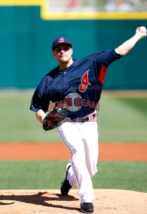 Aaron Laffey -  Cleveland Indians - 2009 spring training.Photo by:  Bill Mitchell/Four Seam Images