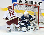 Ben Smith (BC - 12), Ryan Rondeau (Yale - 1) - The Boston College Eagles defeated the Yale University Bulldogs 9-7 in the Northeast Regional final on Sunday, March 28, 2010, at the DCU Center in Worcester, Massachusetts.