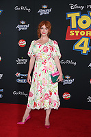 "LOS ANGELES, CALIFORNIA - JUNE 11: Christina Hendricks attends the premiere of Disney and Pixar's ""Toy Story 4"" on June 11, 2019 in Los Angeles, California. <br /> CAP/MPIFS<br /> ©MPIFS/Capital Pictures"