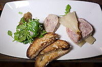 CAPE TOWN, SOUTH AFRICA - MARCH 22: A pate dish at bizerca bistro on March 22, 2012 in Cape Town, South Africa (Photo by Per-Anders Pettersson)