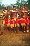 A085M2 Yam festival dancers Kiriwina Trobriand Islands Papua New Guinea