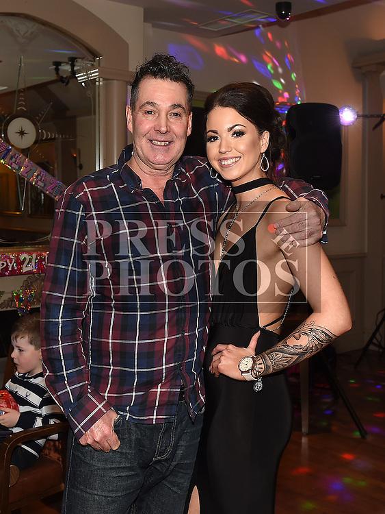 Niamh Larkin celebrating her 21st birthday with dad Leo. Photo:Colin Bell/pressphotos.ie