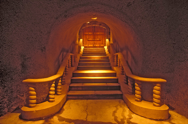 Stairs from cellar at Far Niente