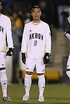 11 December 2009: Akron's Anthony Ampaipitakwong. The University of Akron Zips defeated the University of North Carolina Tar Heels 5-4 on penalty kicks after the game ended in a 0-0 overtime tie at WakeMed Soccer Stadium in Cary, North Carolina in an NCAA Division I Men's College Cup Semifinal game.