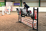 Stapleford Abbotts. United Kingdom. 26 October 2019. Class 4. Intermediate. 70cm. Essex hunt north pony club showjumping. Brook Farm training centre. Stapleford Abbotts. Essex. United Kingdom. Credit Garry Bowden/Sport in Pictures.~ 26/10/2019.  MANDATORY Credit Garry Bowden/SIP photo agency - NO UNAUTHORISED USE - 07837 394578