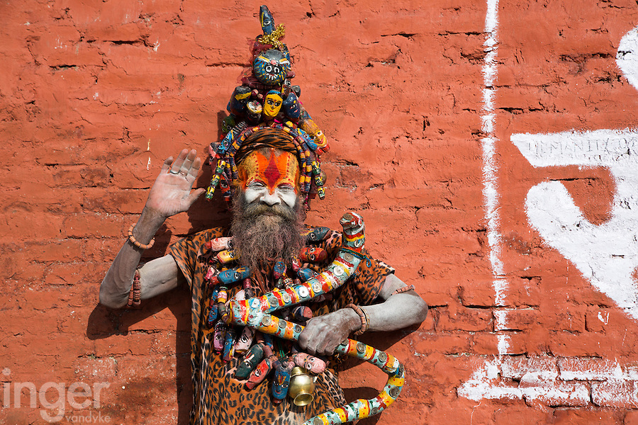 Saddhu at Pashupatinath, Nepal