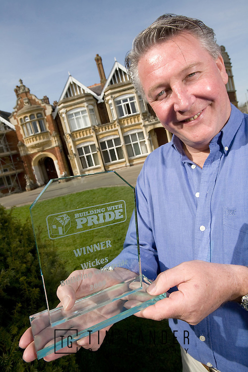 """Tommy Walsh at WWII code-breaking HQ Bletchley Park near Milton Keynes, which won the Wickes """"Building With Pride"""" award."""