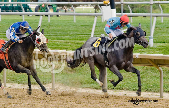 Erase the Deficit winning at Delaware Park on 8/30/14