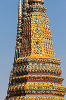 Bangkok, Thailand.  Chedi Phra Maha Munibat Borikhan of King Rama III, in the Wat Pho Compound.