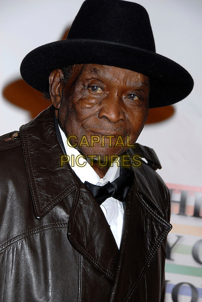 WILLIE PERKINS.31st Kennedy Center Honors celebrating lifetime achievement in the performing arts held at the Kennedy Center for the Performing Arts, Washington, D.C., USA..December 7th, 2008.headshot portrait black hat bow tie.CAP/ADM/GB.©Gary Boas/AdMedia/Capital Pictures.