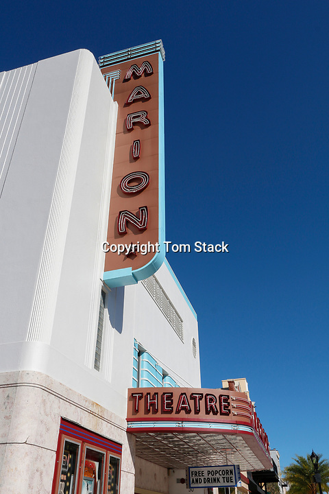 The historic, landmark Marion Theatre in downtown Ocala, Florida