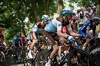 Romain Bardet (FRA/AG2R-LaMondiale) up the infamous Muur van Geraardsbergen<br /> <br /> Stage 1: Brussels to Brussels(BEL/192km) 106th Tour de France 2019 (2.UWT)<br /> <br /> ©kramon