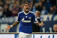 FUSSBALL   1. BUNDESLIGA   SAISON 2013/2014   12. SPIELTAG FC Schalke 04 - SV Werder Bremen                           09.11.2013 Kevin-Prince Boateng (FC Schalke 04) jubelt nach dem Tor zum 2:1.