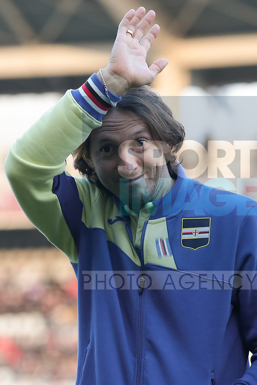 Edgar Barreto of Sampdoria during the Serie A match at Stadio Grande Torino, Turin. Picture date: 8th February 2020. Picture credit should read: Jonathan Moscrop/Sportimage