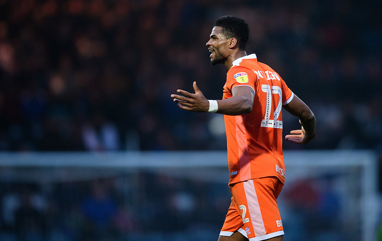 Blackpool's Michael Nottingham celebrates scoring his side's equalising goal to make the score 1-1<br /> <br /> Photographer Chris Vaughan/CameraSport<br /> <br /> The EFL Sky Bet League One - Rochdale v Blackpool - Wednesday 26th December 2018 - Spotland Stadium - Rochdale<br /> <br /> World Copyright © 2018 CameraSport. All rights reserved. 43 Linden Ave. Countesthorpe. Leicester. England. LE8 5PG - Tel: +44 (0) 116 277 4147 - admin@camerasport.com - www.camerasport.com