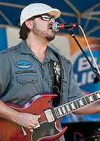 Playing at the Magazine St. Blues Festival in 2010.