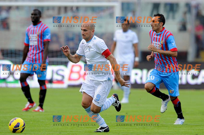 Tommaso Rocchi (Lazio).04/11/2012 Catania.Campionato di calcio Serie A 2012/2013.Catania vs Lazio.Foto Insidefoto
