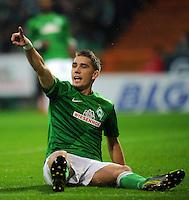 FUSSBALL   1. BUNDESLIGA    SAISON 2012/2013    12. Spieltag   SV Werder Bremen - Fortuna Duesseldorf               18.11.2012 Nils Petersen (SV Werder Bremen)