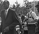Southern Courier photographer, Jim Peppler,   at political rally in Tuskegee, Alabama to hear Stokely Carmichael sometime between 1965 and 1968. (Photo by unknown).