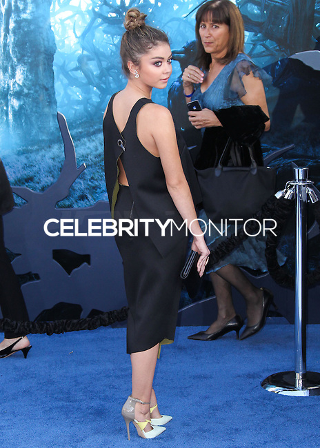 HOLLYWOOD, LOS ANGELES, CA, USA - MAY 28: Sarah Hyland at the World Premiere Of Disney's 'Maleficent' held at the El Capitan Theatre on May 28, 2014 in Hollywood, Los Angeles, California, United States. (Photo by Xavier Collin/Celebrity Monitor)