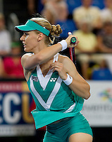 Elena Dementieva (RUS) against Laura Robson (GBR)  in the Group B match bewteen Great Britain and Russia. Elena Dementieva (RUS) beat Laura Robson (GBR) 6-4 6-0..International Tennis - Hyundai Hopman Cup XXII - Fri 08 Jan 2010 - Burswood Dome - Perth - Australia ..© Frey - AMN Images, 1st Floor Barry House, 20-22 Worple Road, London, SW19 4DH