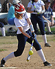 Gabrianna Lorefice #3, Smithtown West centerfielder, cuts at a pitch during a Suffolk League IV varsity softball game against rival Smithtown East at Smithtown High School West on Wednesday, May 2, 2018.
