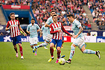 Atletico de Madrid's Koke and Griezmann and Celta de Vigo's Planas during La Liga Match at Vicente Calderon Stadium in Madrid. May 14, 2016. (ALTERPHOTOS/BorjaB.Hojas)