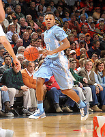 North Carolina guard Nate Britt during an NCAA basketball game Monday Jan. 20, 2014 in Charlottesville, VA. Virginia defeated North Carolina 76-61.