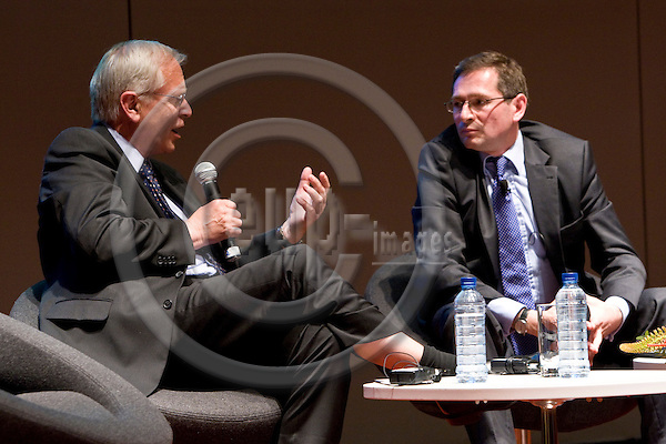 BRUSSELS  -  BELGIUM  - 16 JUNE 2011 -- European Policy Centre (EPC) Annual Conference. - ?Hard talk? interview on the Polish Presidency of the EU. -- Hans MARTENS, Chief Executive of EPC and Adam JASSER, Undersecretary of State in the Polish Prime Minister's Office.  -- PHOTO: Juha ROININEN /  EUP-IMAGES