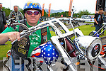 Tom Quinlan with this stars and stripes bike at the Irish Motor Bike rally in the Gleneagle Hotel Killarney on Saturday     Copyright Kerry's Eye 2008